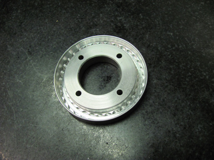 Disco tornito in alluminio