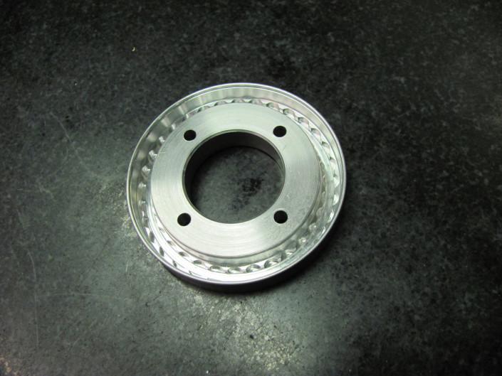 Turned aluminum disc